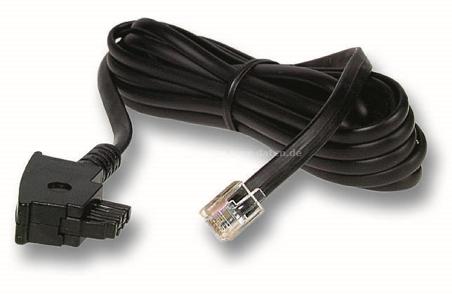 Telefonkabel Länge: 6,0m TAE - N Stecker < > RJ 12 Stecker | KMV ...
