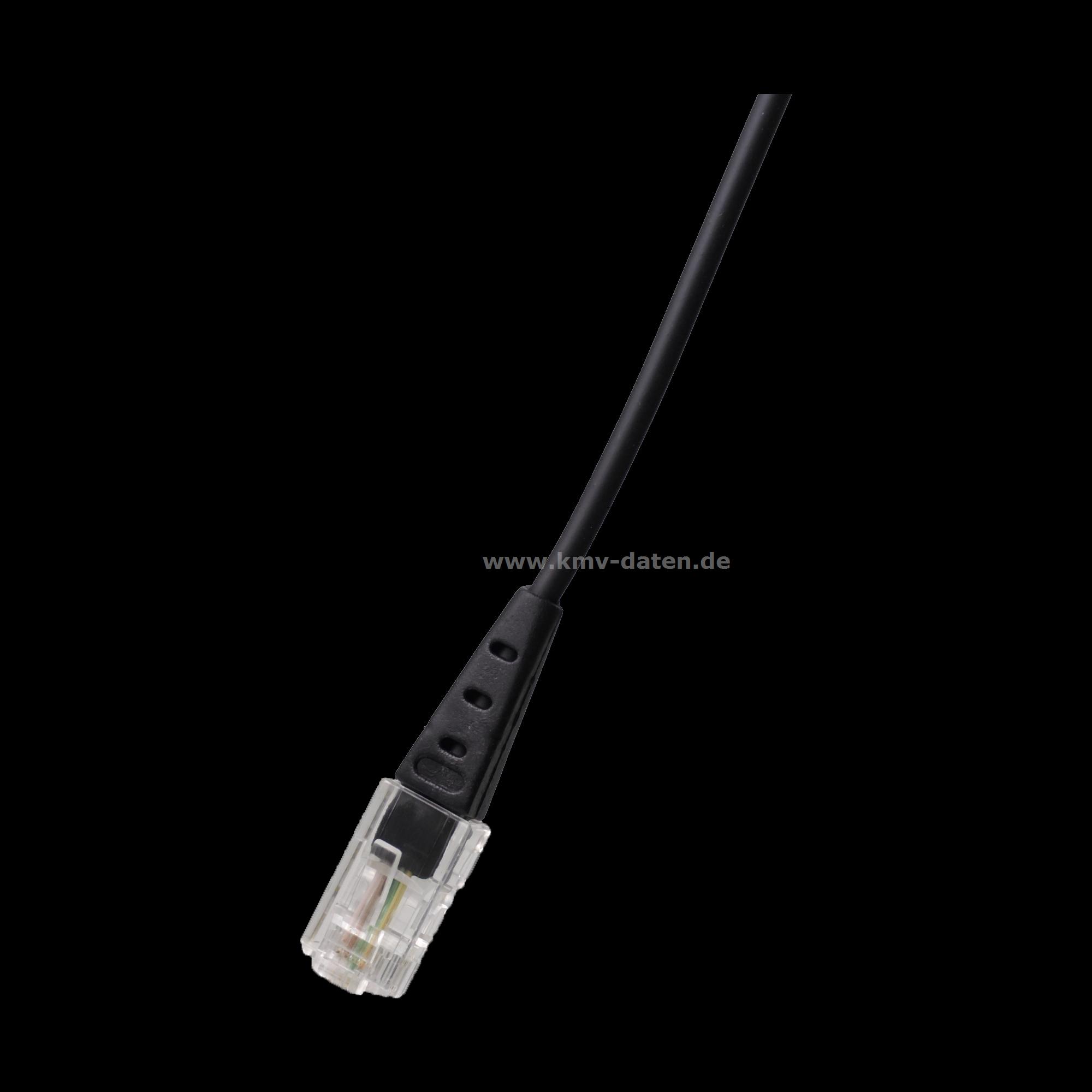 ISDN Kabel Länge:1,0m RJ 45 Hellbraun<> RJ 45 Hellbraun