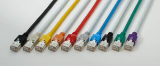 Patchkabel Cat 5e 1 Gbit Länge: 7,5m. 2 x RJ45 HRS TM11 Stecker Tülle schwarz Kerpen D1-20 SF/U flex PVC / grau EAN Nr.: 4551095301589