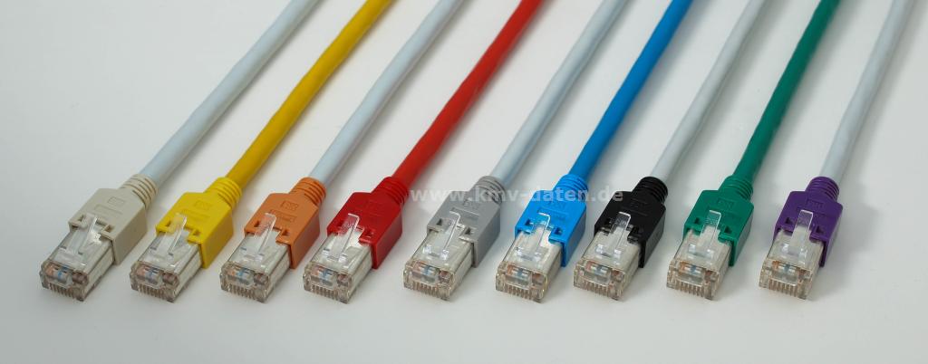 Patchkabel Cat 5e 1 Gbit Länge: 2,5m. 2 x RJ 45 HRS TM 11 Stecker Tülle rot Kerpen D1-20 SF/U flex PVC / rot EAN Nr.: 4551095303255